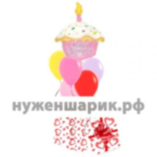 Коробка сюрприз с воздушными шарами Веселый праздник