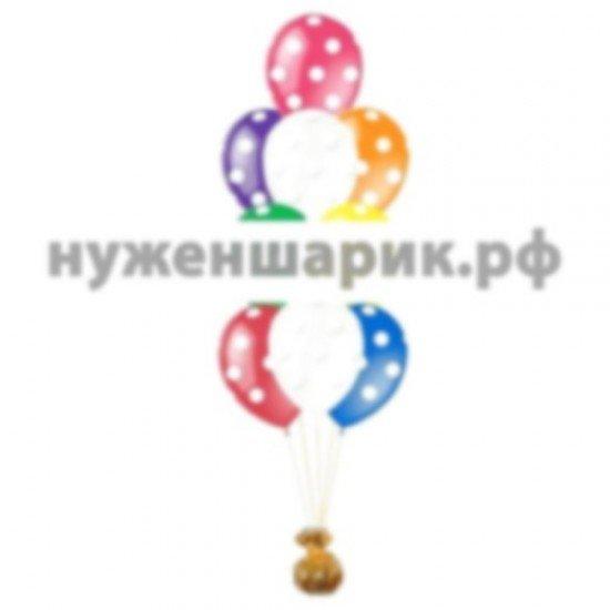 Фонтан из воздушных шаров Горошек Ассорти