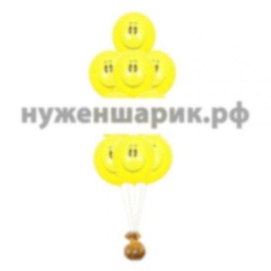 Фонтан из воздушных шаров Смайл