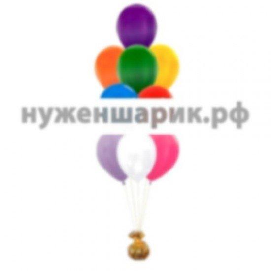 Фонтан из Ассорти воздушных шаров Металлик