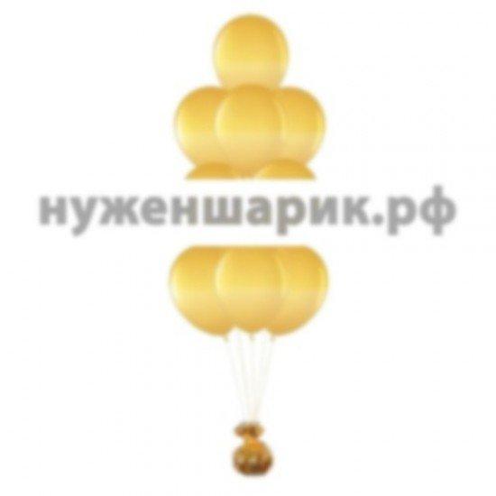 Фонтан из Золотых воздушных шаров Металлик