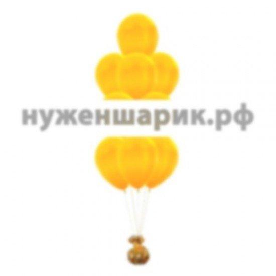 Фонтан из Желтых воздушных шаров Металлик