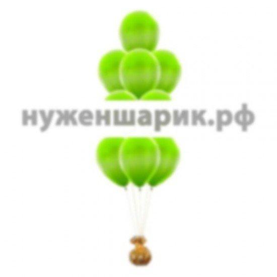 Фонтан из Зеленых воздушных шаров Металлик