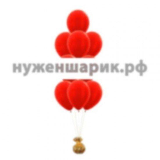 Фонтан из Красных воздушных шаров Металлик