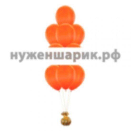 Фонтан из Оранжевых воздушных шаров Металлик