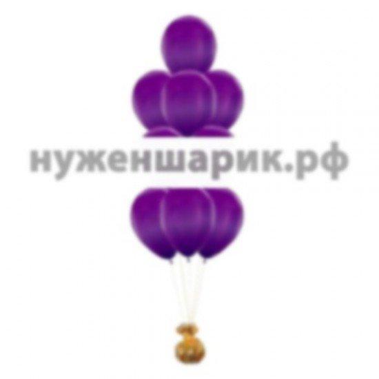 Фонтан из Фиолетовых воздушных шаров Металлик