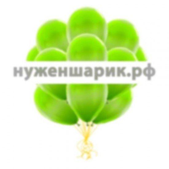 Облако Зеленых воздушных шаров Металлик