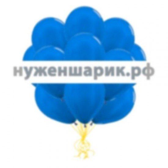 Облако Синих воздушных шаров Металлик