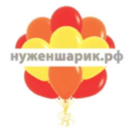 Облако Желтых, Красных и Оранжевых воздушных шаров