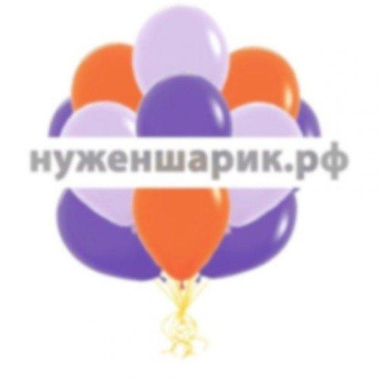 Облако Сиреневых, Фиолетовых и Оранжевых воздушных шаров