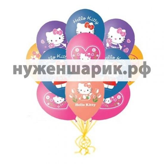 Облако воздушных шаров Hello Kitty