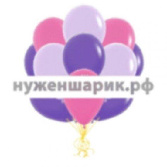 Облако воздушных шаров Фуше, Сиреневых и Фиолетовых