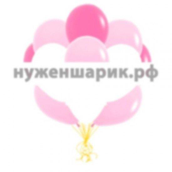 Облако воздушных шаров Розовых, Белых и Фуше