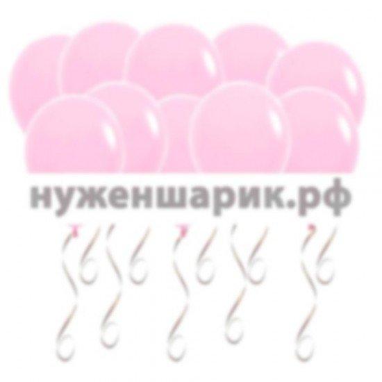 Шары под потолок Розовые Пастель