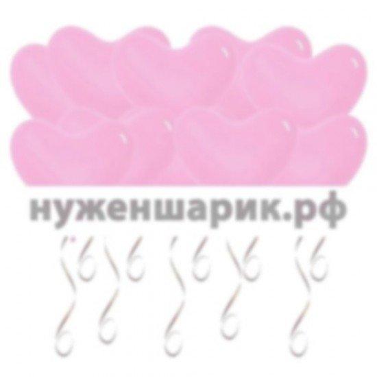 Шары под потолок Сердца, Розовые