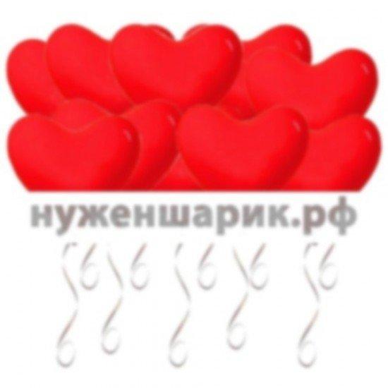 Шары под потолок Сердца, Красные