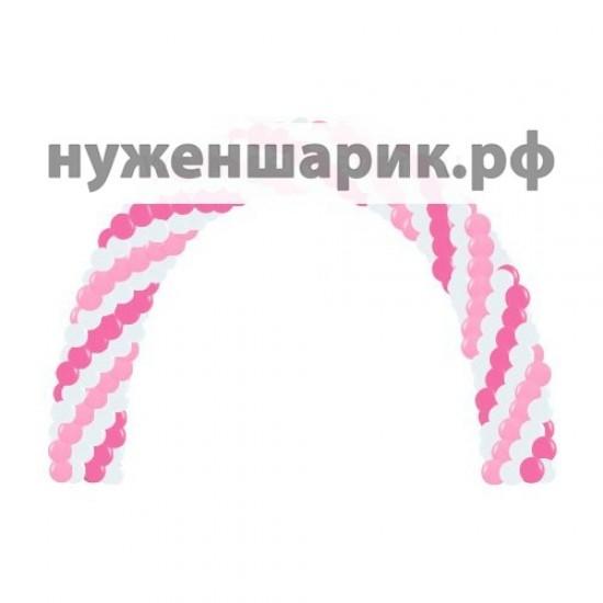 Арка из воздушных шаров Розовый коктейль