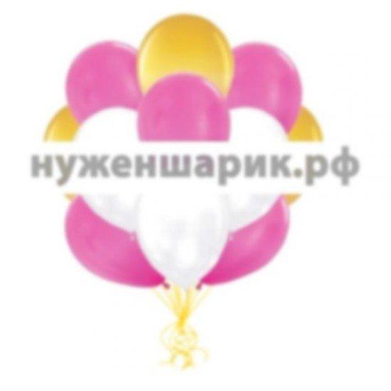 Облако Золотых, Белых и Розовых воздушных шаров