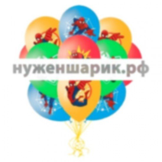 Облако воздушных шаров Человек-паук