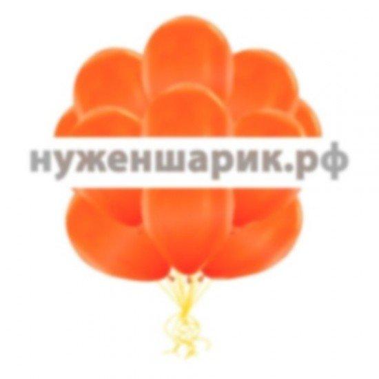 Облако Оранжевых воздушных шаров Металлик