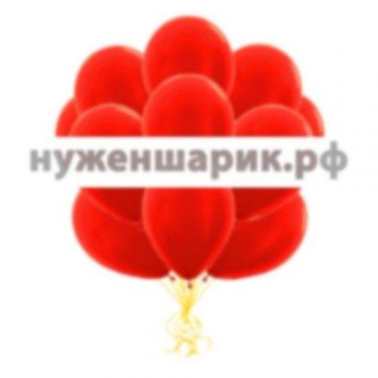 Облако Красных воздушных шаров Металлик