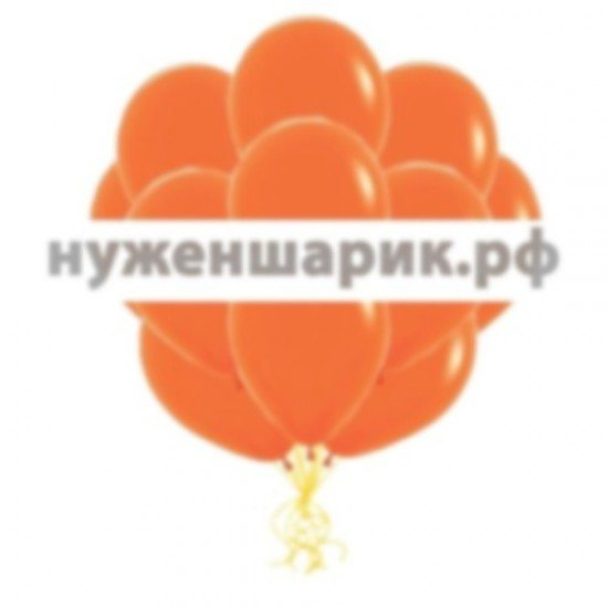 Облако Оранжевых воздушных шаров Пастель