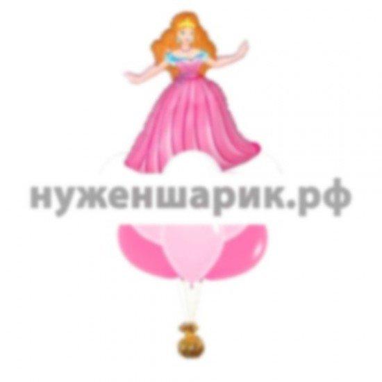 Связка из воздушных шаров Для принцессы
