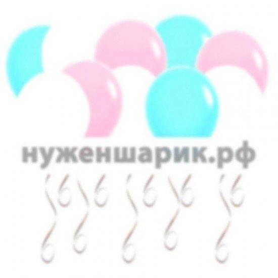 Шары под потолок Тиффани, Розовые, Белые