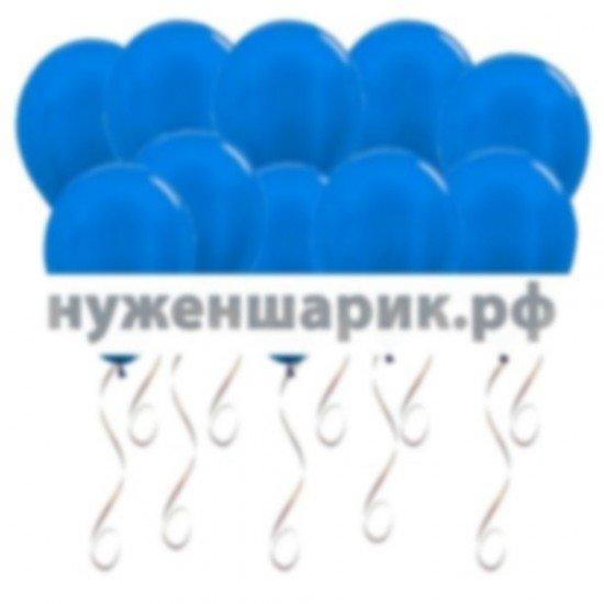 Шары под потолок Синий Металлик