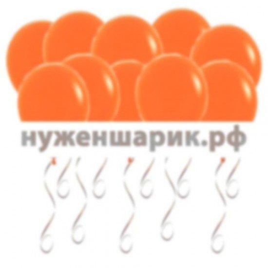 Шары под потолок Оранжевые Пастель