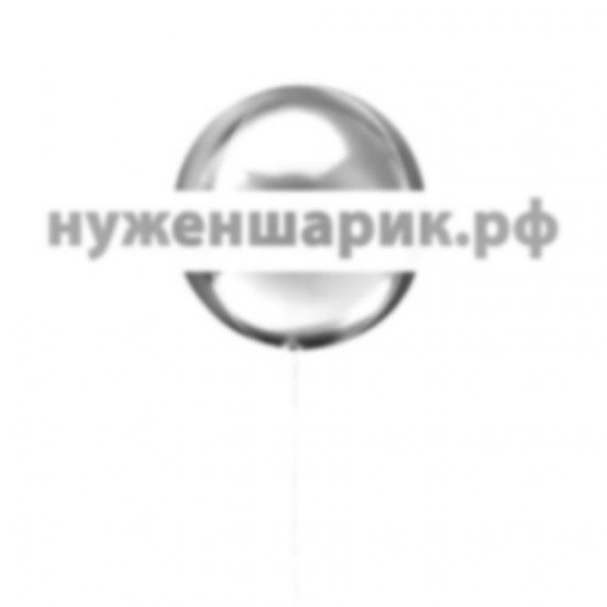 Шар Сфера 3D, Серебро, 51 см