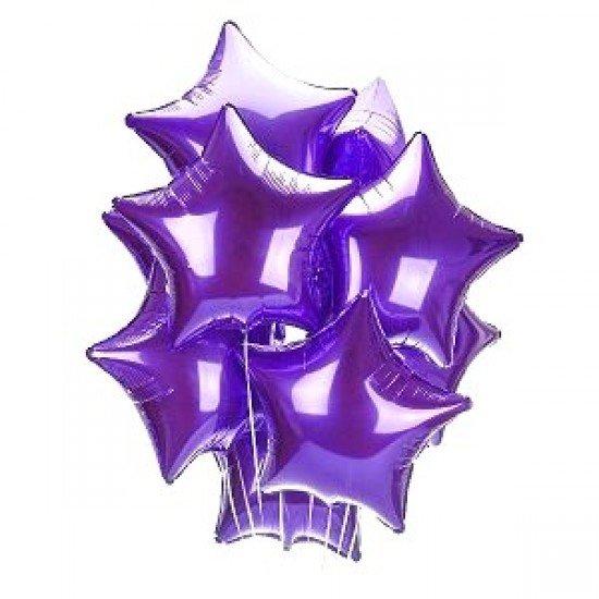 Облако из фольгированных звезд, фиолетовые