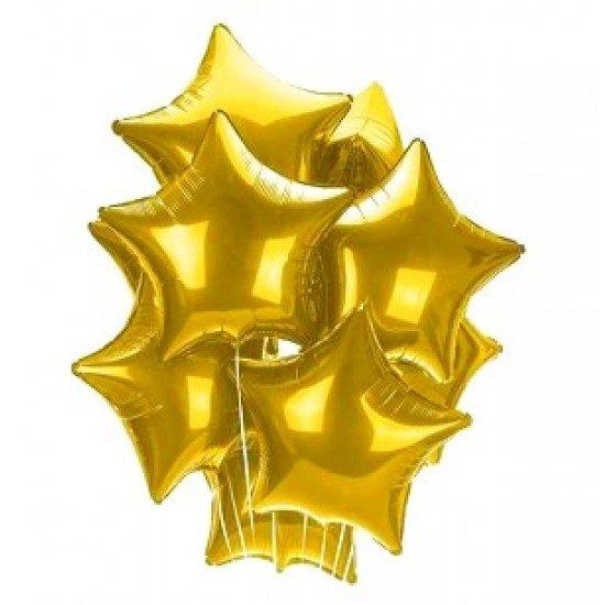 Облако из фольгированных звезд, золото
