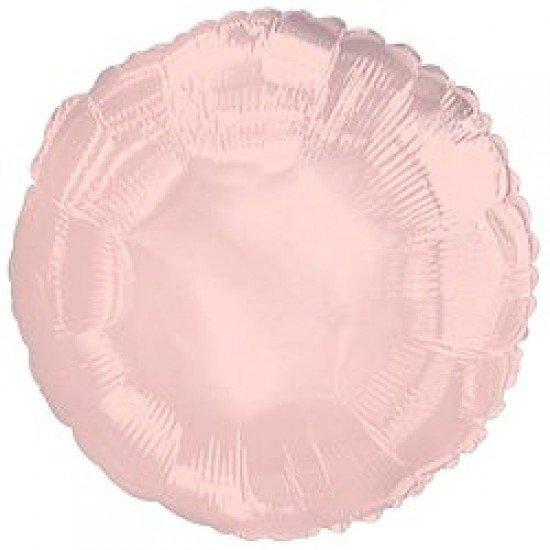 Шар из фольги, Круг, Розовое золото, 46 см