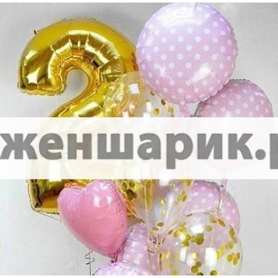Композиция из воздушных шаров Радость
