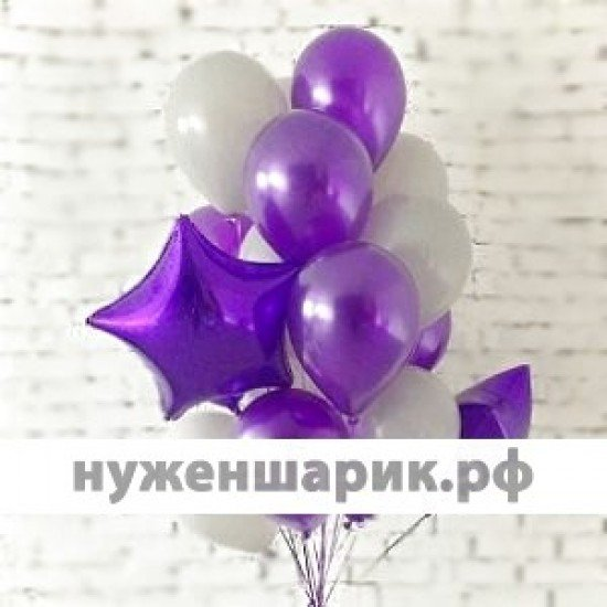 Композиция из воздушных шаров Фиолетовая нежность