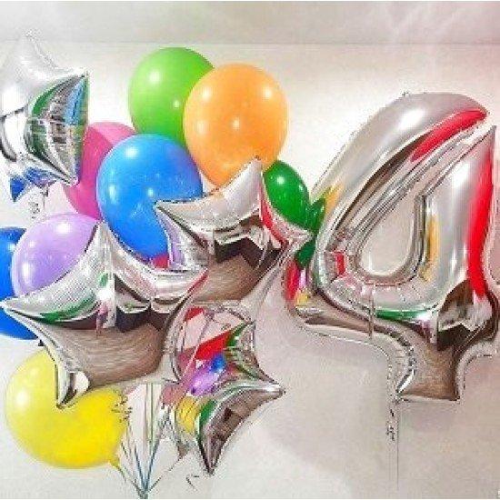 Композиция из воздушных шаров Ассорти