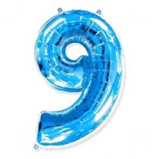 """Шар """"Цифра 9"""" Синяя, 102 см"""