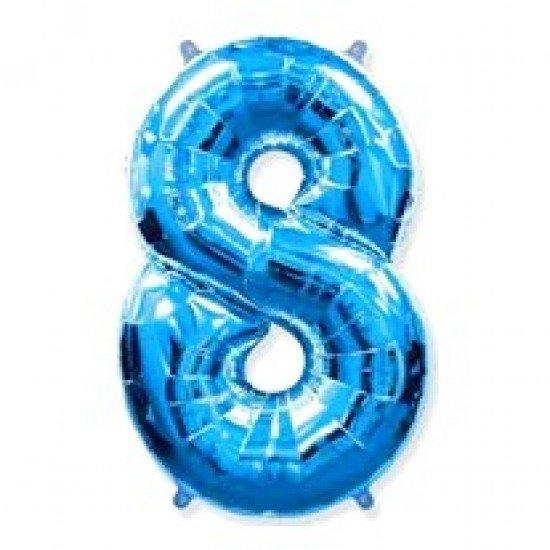 """Шар """"Цифра 8"""" Синяя, 102 см"""