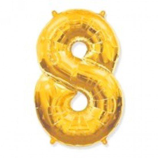 """Шар """"Цифра 8"""" Золото, 102 см"""