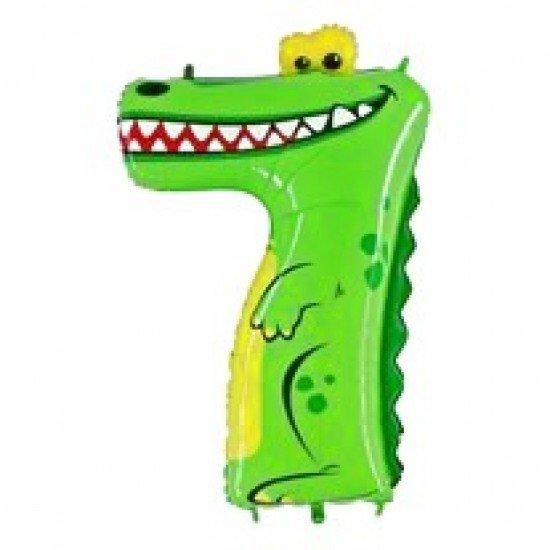 "Шар ""Цифра 7"" Крокодил, 102 см"