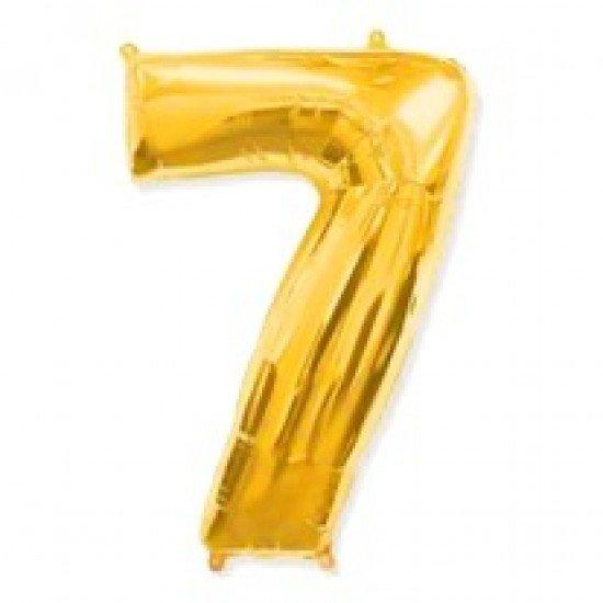 """Шар """"Цифра 7"""" Золото, 102 см"""