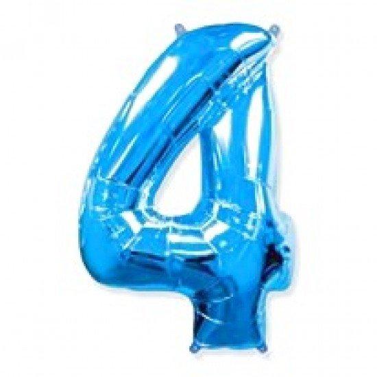 """Шар """"Цифра 4"""" Синяя, 102 см"""