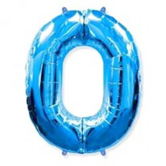 """Шар """"Цифра 0"""" Синяя, 102 см"""