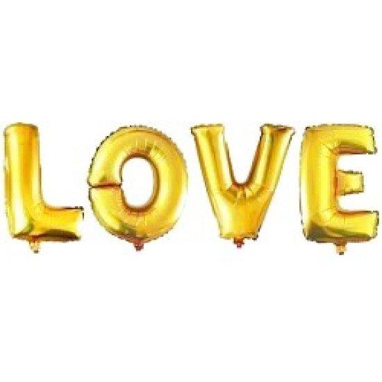 """Шар Надпись """"LOVE"""", Золото, 41 см"""