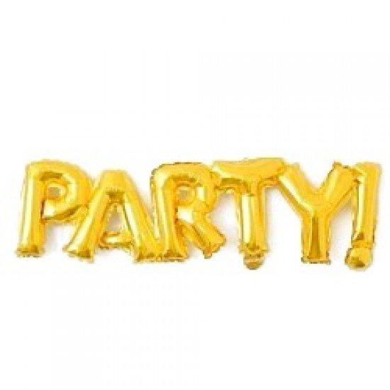 "Шар Надпись ""Party"", Золото, 107 см"