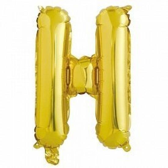Шар Буква Н золото, 102 см