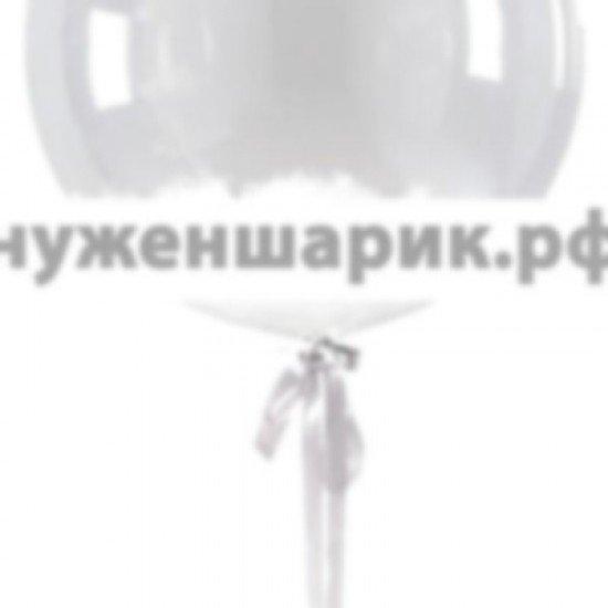 Прозрачный шар Bubble с Белыми перьями, 61 см