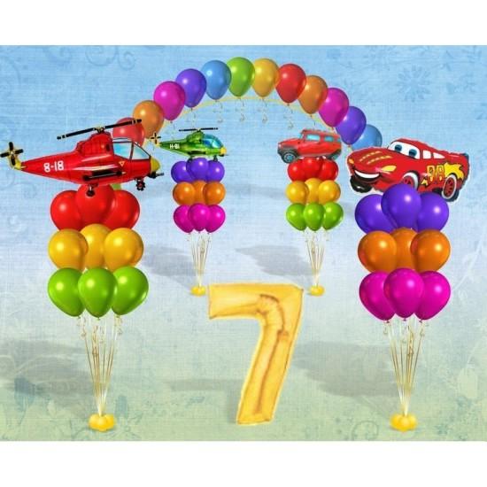 Детский праздник из воздушных шаров Счастливое детство