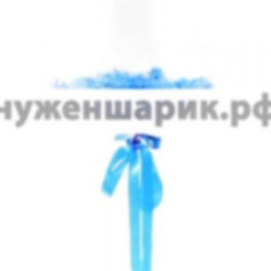 Прозрачный шар Bubble с Синими перьями, 61 см